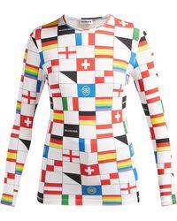 Balenciaga Lgbtq Flag-print Stretch-jersey Top - Multicolour