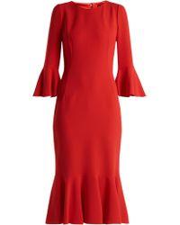 Dolce & Gabbana - Ruffled Cady Midi Dress - Lyst