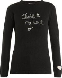 Bella Freud Close To My Heart カシミアセーター - ブラック
