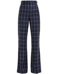 Gabriela Hearst - Vesta Checked Wool Trousers - Lyst