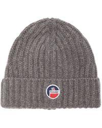 Fusalp Griaz Ribbed-knit Merino Beanie Hat - Grey