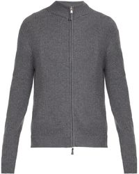Allude - Ribbed Knit Cashmere Cardigan - Lyst