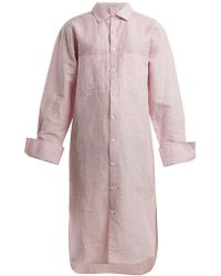 Palmer//Harding - Oversized Pinstriped Shirtdress - Lyst