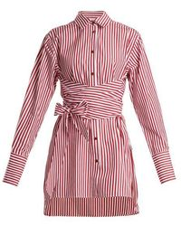 Khaite - Bianca Striped Tie-waist Cotton Shirt - Lyst