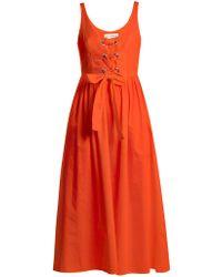 Mara Hoffman - Athena Lace-up Woven Dress - Lyst