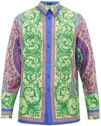Versace - バロック シルクツイルシャツ - Lyst