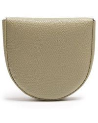 Valextra - Grained Leather Coin Purse - Lyst
