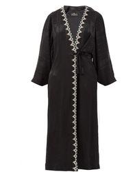 Etro Campaerio Embroidered-edge Jacquard Satin Tunic - Black