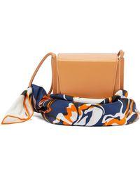 ROKSANDA Box Leather Scarf Handle Bag - Multicolour