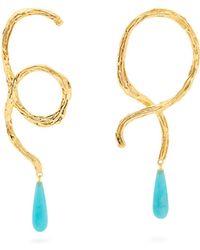 Lizzie Fortunato Cursive Conch Shell Earrings