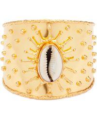 Sophie Bille Brahe Yellow Quartz & 18kt Rose Gold Shell Charm