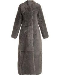 The Row Tralman Shearling Coat - Gray
