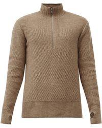 Oliver Spencer ハーフジップ ウールセーター - マルチカラー