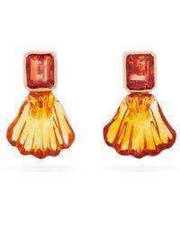 Dezso by Sara Beltran Tourmaline Shell & 18kt Gold Earrings - Multicolour