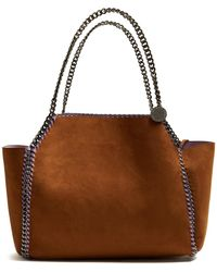 Stella McCartney | Falabella Reversible Faux-suede Tote | Lyst