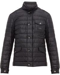 Dolce & Gabbana マルチポケット キルティングダウン フィールドジャケット - ブラック