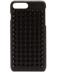 Christian Louboutin Loubiphone スパイク レザー Iphone 7&8 ケース - ブラック