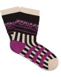 Burberry - Patchwork Cashmere-blend Socks - Lyst