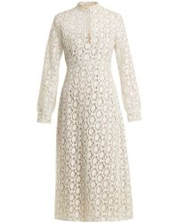 By. Bonnie Young - Long Sleeved Cotton Blend Lace Dress - Lyst