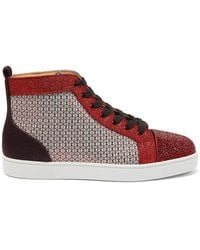 Christian Louboutin - Baskets montantes à ornements Louis Strass - Lyst