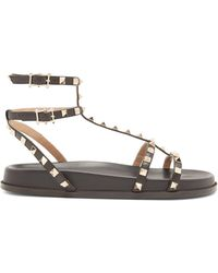 Valentino - Submerge Rockstud Leather Sandals - Lyst