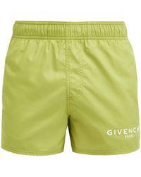 Givenchy ロゴプリント スイムショーツ - グリーン