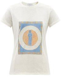 Gabriela Hearst Guibert Saint-print Cashmere-jersey T-shirt - Multicolor