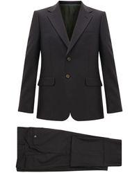Gucci ロンドン ウールブレンド シングルスーツ - ブラック