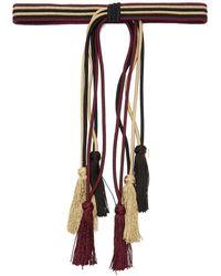 Etro Tasselled Rope Belt - Purple
