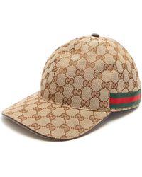 Gucci - Web Stripe Gg Logo Baseball Cap - Lyst