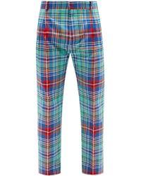 Charles Jeffrey LOVERBOY Tartan Twill Slim-leg Trousers - Blue