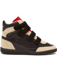 Isabel Marant - Bilsy Concealed-wedge Leather Trainers - Lyst