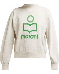Étoile Isabel Marant - Moby Flocked Logo Cotton Blend Sweatshirt - Lyst