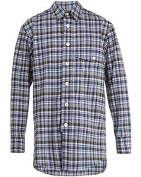 Wooyoungmi - Oversized Checked Wool-blend Shirt - Lyst