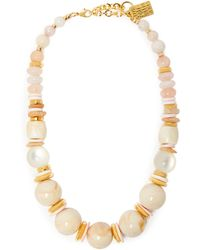 Lizzie Fortunato Quarry 18kt Gold Plated Necklace - Pink