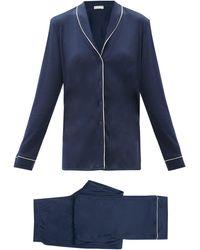 Hanro Natural Comfort Pyjama Set - Blue