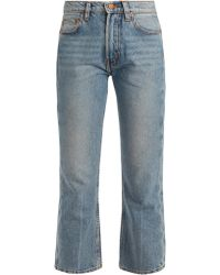 Bliss and Mischief | Cowboy-fit Bootcut Cropped Jeans | Lyst