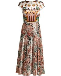 Mary Katrantzou - Caramolengo Jewel Print Silk Dress - Lyst