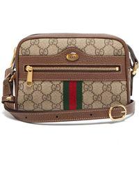 1de14295c7a9 Gucci - Ophidia Gg Supreme Cross Body Mini Bag - Lyst