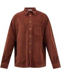 Acne Studios Satlent Cotton-blend Corduroy Shirt - Brown