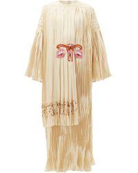 Gucci ガーデニア シルクサテンドレス - ホワイト