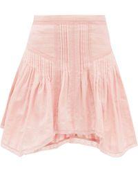 Étoile Isabel Marant Mini-jupe en voile de coton Prandali - Rose
