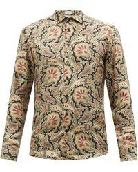 Etro フローラル シルクツイルシャツ - マルチカラー