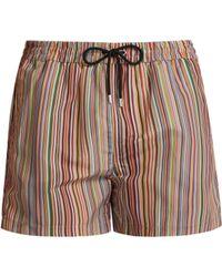Paul Smith Short de bain à imprimé Signature Stripe - Multicolore