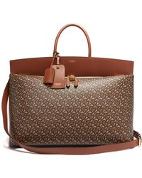 Burberry Society Extra-large Monogram-print Canvas Holdall - Brown