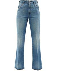 Gucci High-rise Flared-leg Jeans - Blue