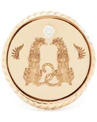 Retrouvai ラブ ダイヤモンド 14kゴールドシグネットリング - マルチカラー