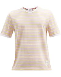 Thom Browne - リンガー ボーダー コットンtシャツ - Lyst