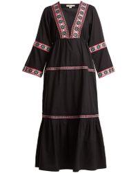 DAFT - Istanbul Geometric-pattern Web Dress - Lyst