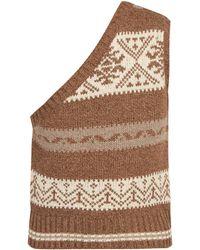 Sasquatchfabrix - Nordic Knit One Shoulder Sleeveless Jumper - Lyst